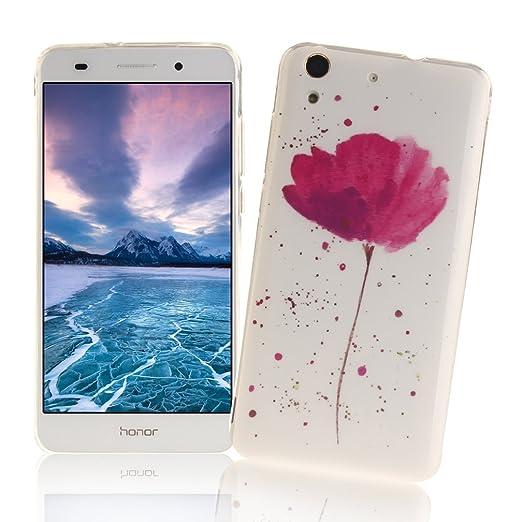 8 opinioni per XiaoXiMi Cover Huawei Y6 II/Y6 2 Custodia in Silicone Gomma Gel per Huawei Y6