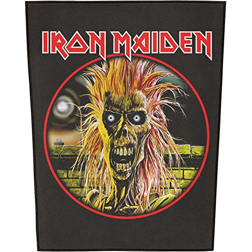 XLG Iron Maiden First Album Back Patch Rock Music Mascot Jacket Sew On Applique - Iron Maiden Jacket