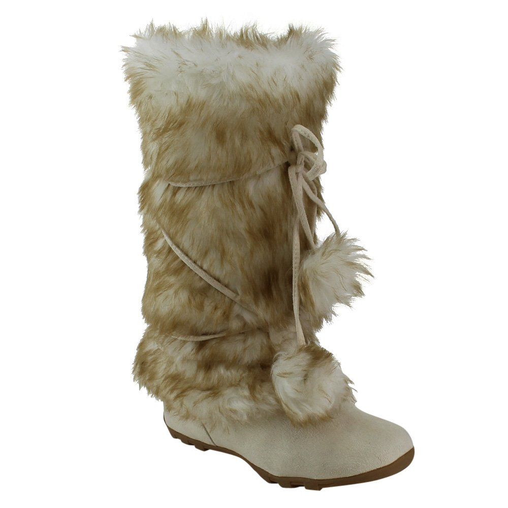 Blossom Womens Tara-Hi Pom Pom Winter Fashion Eskimo Style Boots