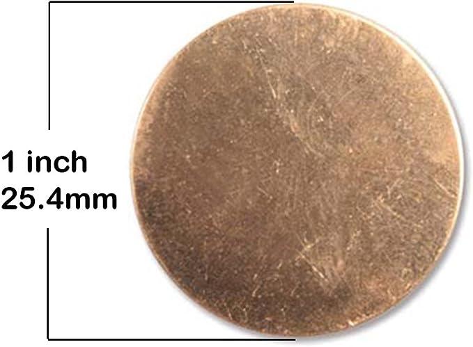 """16 Gauge 2/"""" Copper Discs Lot of 5"""