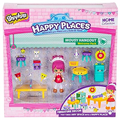 Shopkins Happy Places Season 2 Welcome Pack Mousy Hangout Toy: Toys & Games