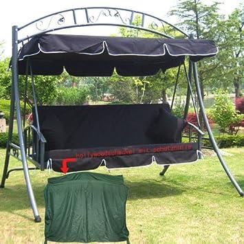 Loywe Lujo Hollywood balancín de jardín Columpio con función de Cama – Ancho 215 cm Altura 219 cm Profundidad 160 cm, Modelo: GEA/Negro Carga 200 kg: Amazon.es: Jardín