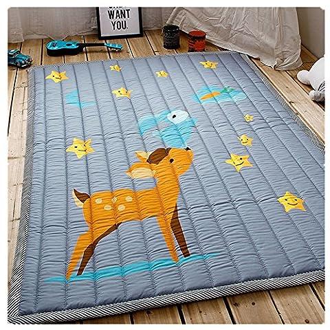 Kids Teepee Mat Children Antiskid Play Mat Baby Crawling Mat Non-slip thicken Carpet(55''X76'') (Sika deer) - Bene Carpet
