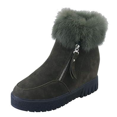 61d455cac6b ZYUEER Femmes Fermeture ÉClair LatéRale Dames Chaud Bottes Bottines  Chaussures à Talons Hauts