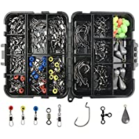 JSHANMEI 160pcs/box Fishing Accessories Kit, Including...