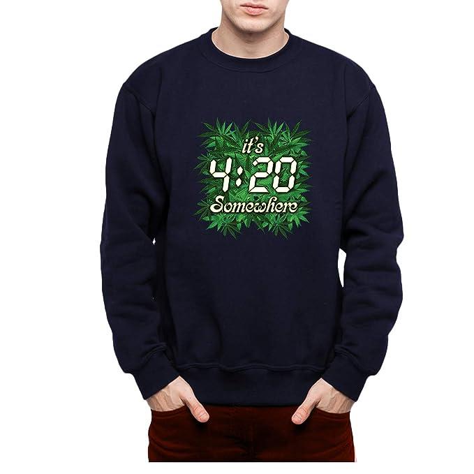 avocadoWEAR Marihuana Cannabis Hombre Sudadera S-3XL: Amazon.es: Ropa y accesorios