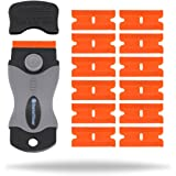 InstallGear Mini Razor Scraper Tool with 12 Safety Plastic Blades for Removing Decals & Stickers from Cars, Boats and other Delicate Surfaces