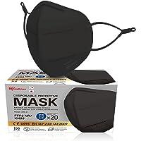 Iris Ohyama, Pakket met 20 wegwerp FFP2-maskers, Verstelbare oorlussen tegen irritatie, Neusklem, 3 lagen - Disposable…