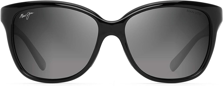 Maui Jim Shoal 797-2M Polarized Gunmetal Black Rectangular Frame Sunglasses