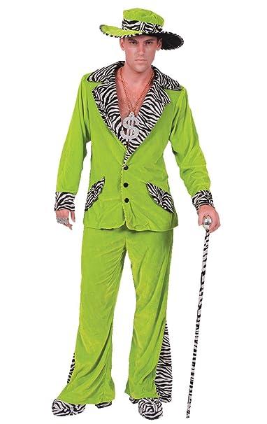 ORION COSTUMES Disfraz de Traje de Chulo de Terciopelo Verde ...