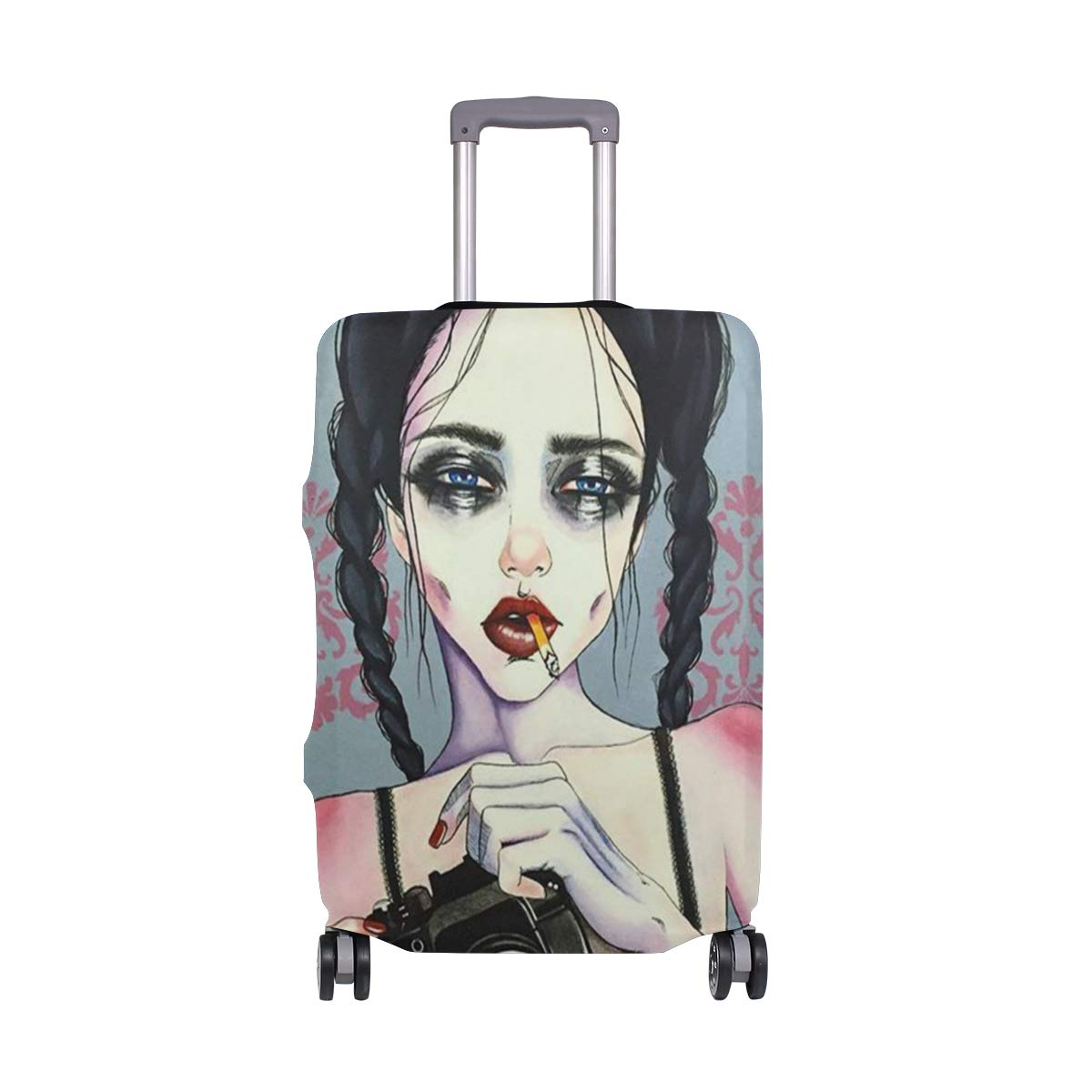 Women Art Print Luggage Covers Suitcase Protector Jacket Dust-proof Anti-thief Dust-proof Case Fits 18-32 Inch Luggage