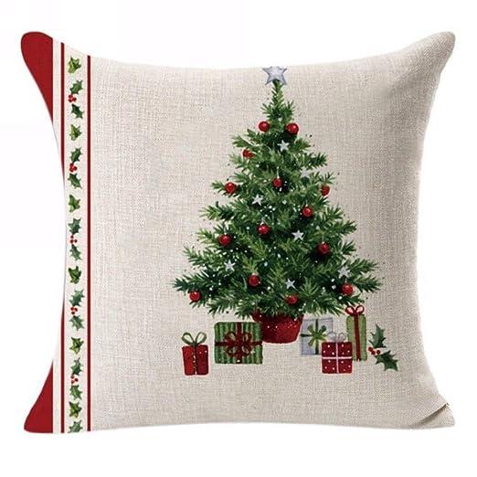 NAttnJf Funda de Almohada Merry Christmas Funda de cojín de ...