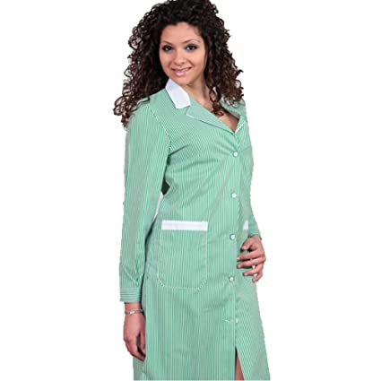Camice Delantal, diseño de mujer Escuela limpieza Hotel de asilo cocina operaia cameriera verde 42