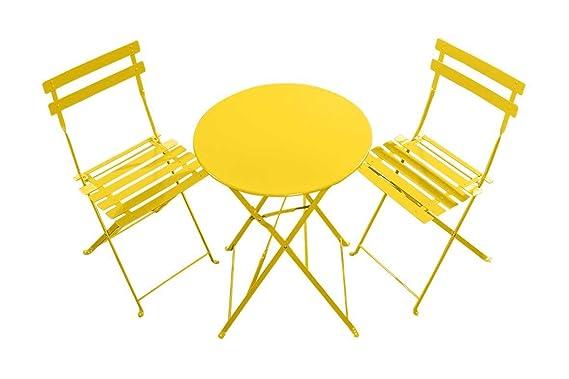 Sedie Pieghevoli Gialle : Xone set tavolo e due sedie pieghevoli per giardino terrazze bar