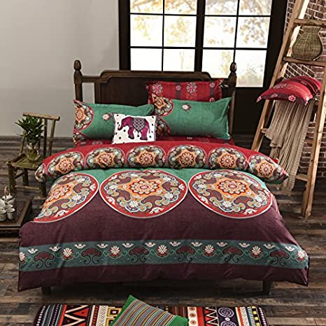 Illustrated Floral Duvet Cover Reversible Quilt Set with Pillowcases All Sizes