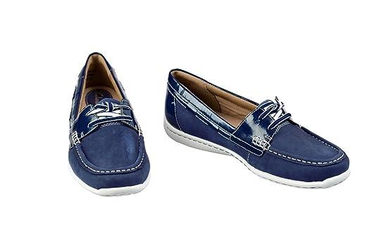 Clarks Poursuivre En Justice Gaynor - Chaussures À Lacets En Cuir Pour Les Femmes Bleu, Bleu, Taille 38