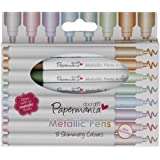 Docrafts Metallic Pens, Bullet Tip (Pack of 8)