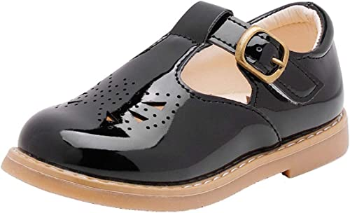 PPXID Toddler Little Girls Leather T-Bar Oxford Shoes Mary Jane Flats Shoes