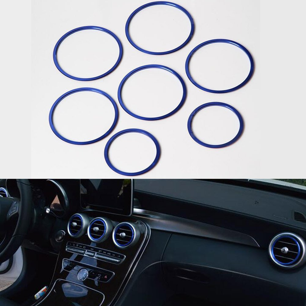 7x Red Cover Air Vent Outlet Inner Ring Trim for Mercedes Benz W205 C180 GLC