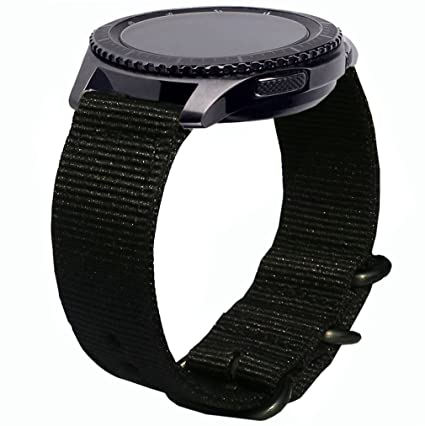 Gear S3 Frontier Bands, 22mm Quick Release Ticwatch Pro Nylon NATO Band Soft Replacement Strap Wristband for Samsung Galaxy Watch 46mm & Gear S3 ...