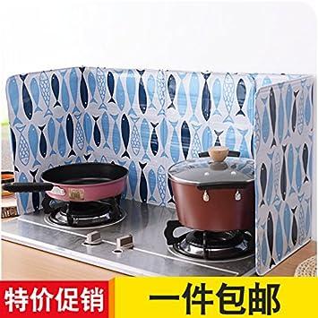 XXAICW Aceite protector placa grasa placa cocina de gas estufa para cocinar y el calor salpicaduras aislamiento placa para doblar el papel de aluminio de ...