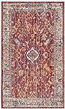 Cheap Safavieh Bristol Collection BTL361R Rose and Light Grey Vintage Oriental Distressed Area Rug (4′ x 6′)