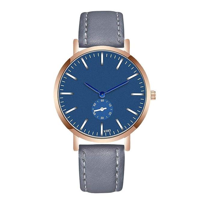 Amazon.com : Big Promotions! Nufelans Fashion Luxury Man Crystal Leather(PU) Analog Quartz Bussiness Wrist Watch Sale (Black) : Sports & Outdoors