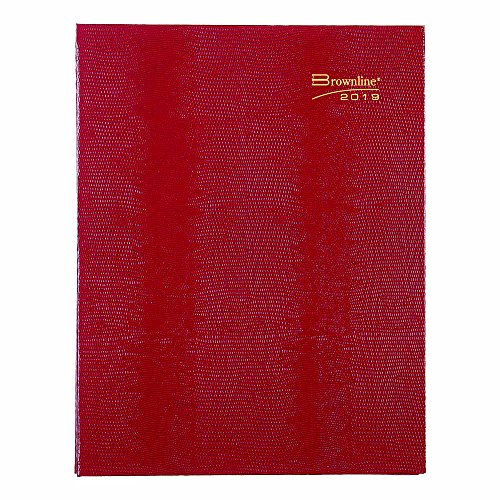 (Brownline 2019 CoilProTM Monthly Planner, 14 Months (Dec 2018-Jan 2020), Hard Cover, Red, 11 x 8.5 inches (CB1262C.RED-19))