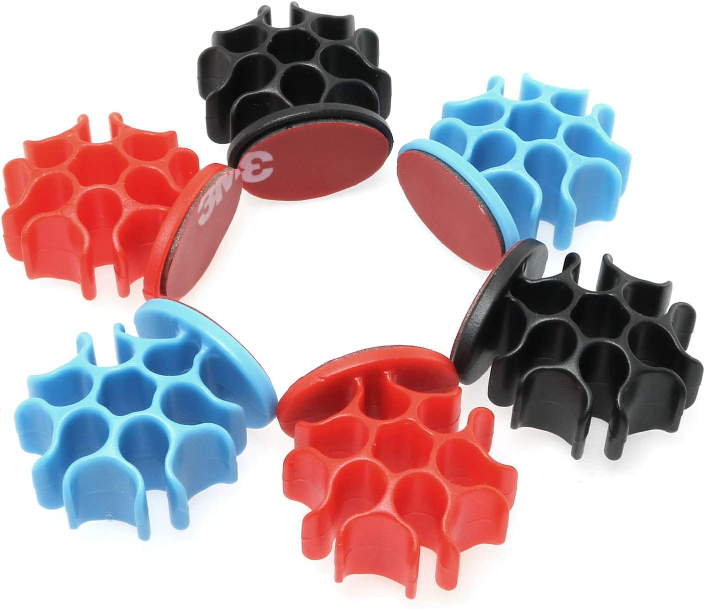 Magic&shell Cable Clips 12PCS Coral Shaped Cable Holder Multipurpose Cord Management for Organizing Cable Cords Home and Office, Self Adhesive Cord Organiser