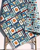 Space Adventure Quilt Boy Nursery Outer Space Spaceship Rocket Planets Moon Crib Bedding Nursery Decor