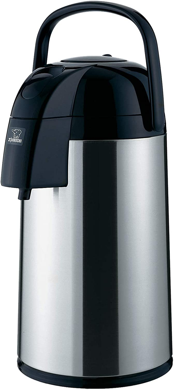 B00004S56T Zojirushi AAWE-30SB Supreme Air Pot Beverage Dispenser, 3.0 L, Polished Stainless 61IDKlWrkJL