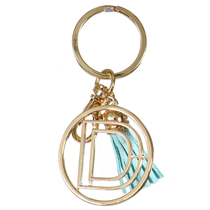 Crown Alphabet Initial Letter Keychain, Key Ring, Bag Charm