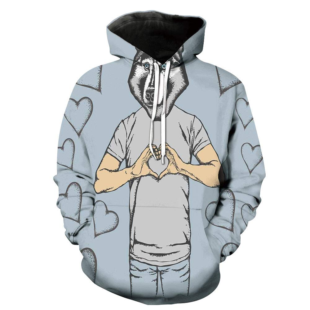 Unisex Hoodie 3D Print American Flag America Martial Sherpa Lined Fleece Sweatshirt Size XS