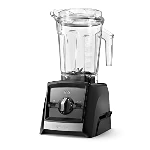 Vitamix Con A2500 Ascent Series Smart Blender, Professional-Grade, 64 oz. Low-Profile Container, Black