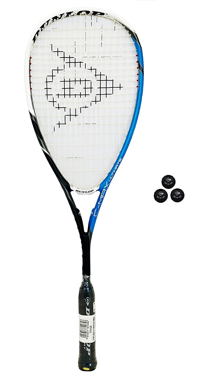 Dunlop C-Max Raquette de squash et 3 balles