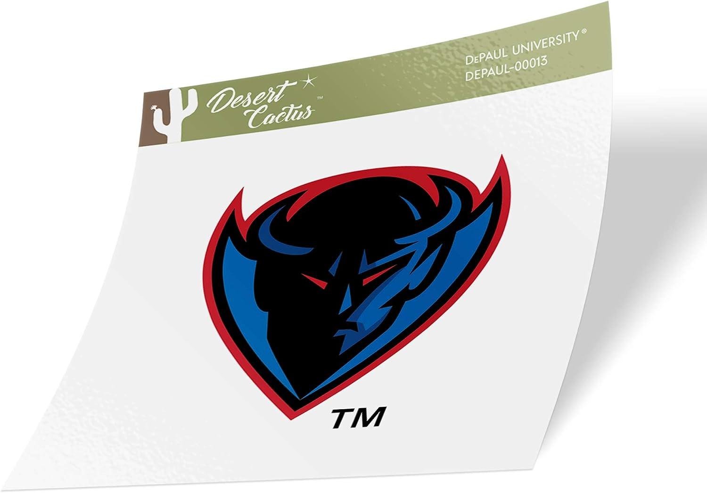 Sticker - 00013 DePaul University DPU Blue Demons NCAA Vinyl Decal Laptop Water Bottle Car Scrapbook