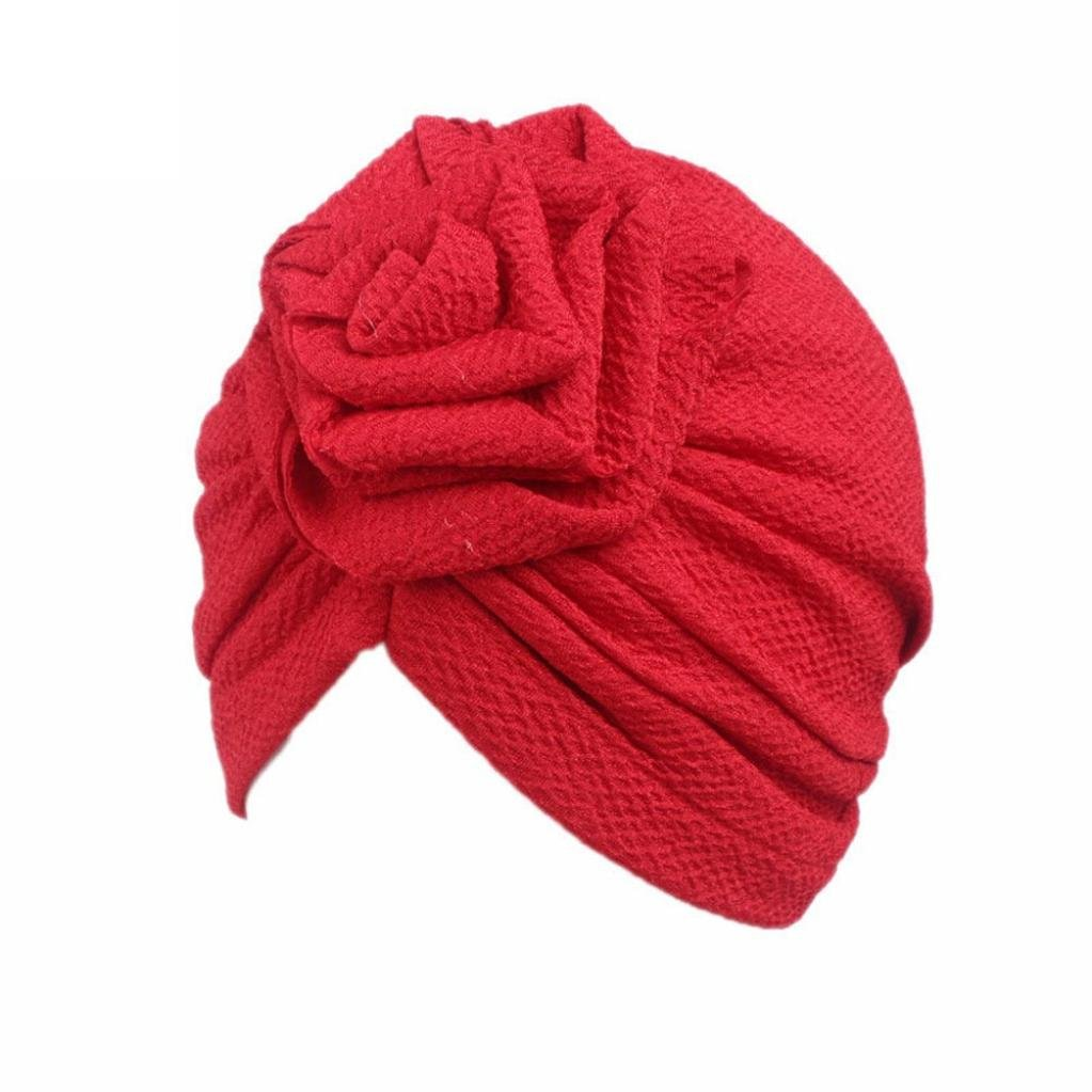 Tpulling Bonnet Bebe, Enfants bébé Filles Bohème Chapeau écharpe Bonnet Foulard Turban tête Wrap