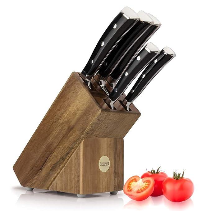 Bloque De 5 Cuchillos Profesionales Sabatier : Bloque De ...