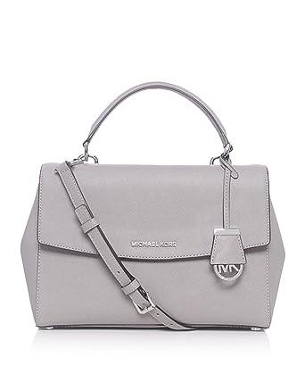 d204887723a1 ... saffiano leather satchel 140b9 18886 sweden michael michael kors ava  medium satchel bag light gray one size e4d60 0d47a ...