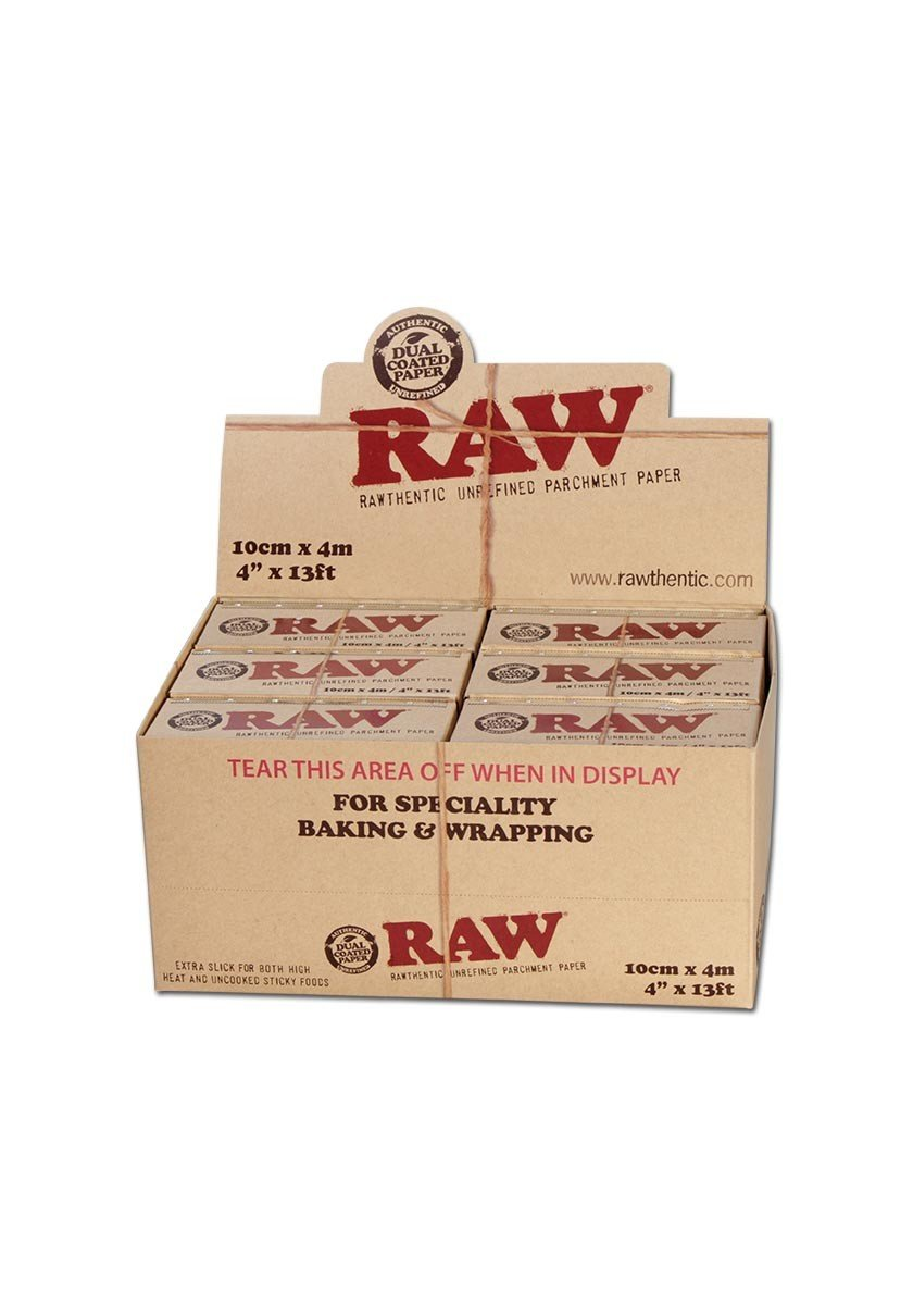 RAW Unrefined Parchment Paper Roll (12 roll display box, 100mm size) by RAW (Image #1)