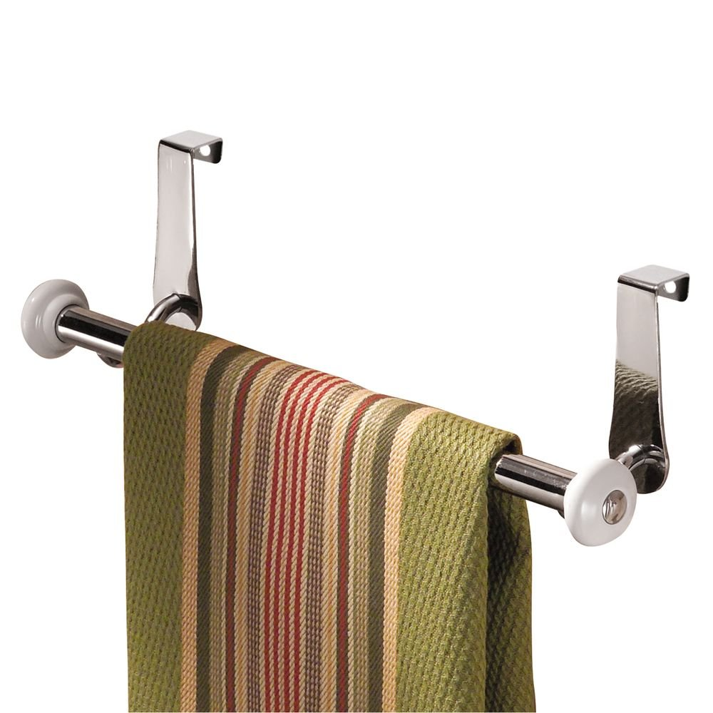 Bronze 9323 InterDesign York Over-the-Cabinet Kitchen Dish Towel Bar Holder