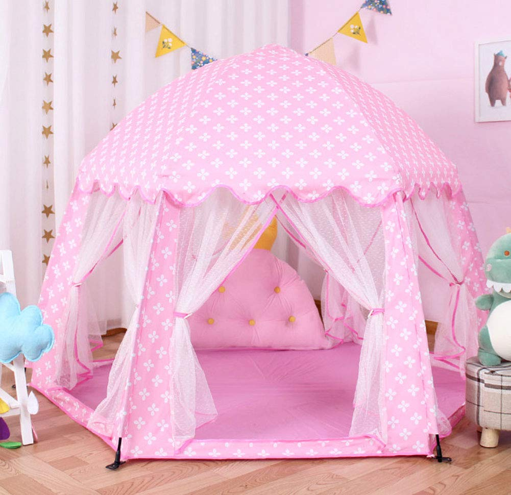 XIAO&Z Prince or Princess Children Kids Play Tent House Indoor or Outdoor Garden Toy House Play House Tent Boys Girls,Pink by XIAO&Z (Image #7)