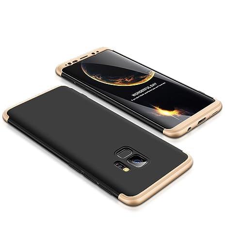 Funda Samsung Galaxy S9,Carcasa Samsung Galaxy S9, Funda 360 Grados Integral Para Ambas Caras+Cristal Templado,[360°]3 in 1 Slim Fit Dactilares ...