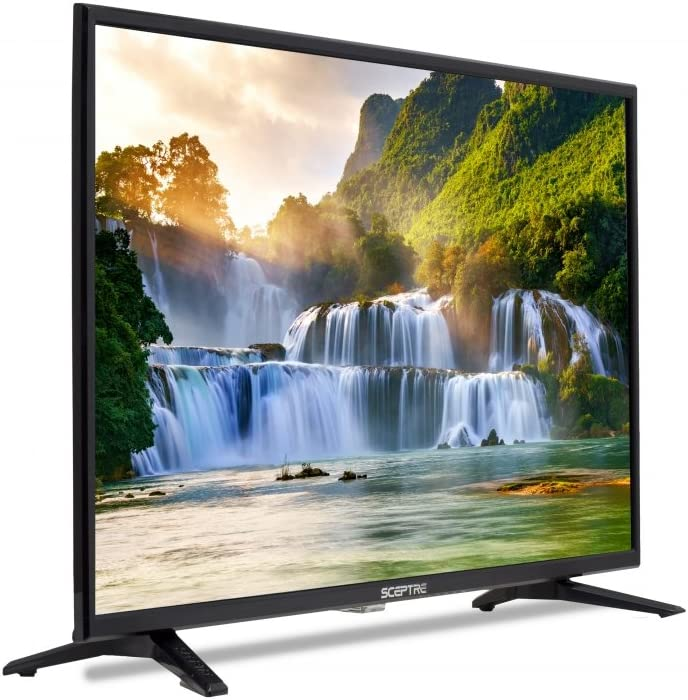 Sceptre 2019 X328BV-SR - Televisor de 32 Pulgadas (LED, 720p, HDTV, 3 HDMI, MHL, ASTC/QAM), Color Negro: Amazon.es: Electrónica