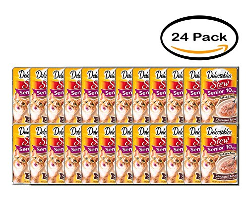 PACK OF 24 - Delectables Lickable Treat - Stew Senior 10 yrs+ Chicken & Tuna, 1.4oz