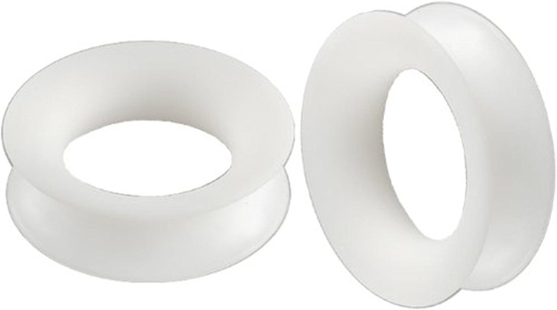 Made in Italy 1 Pair Unique Ear Plugs 1 Pair Handmade Double Flared Ceramic Ear Plugs Ear Plugs 19mm 34 gauges