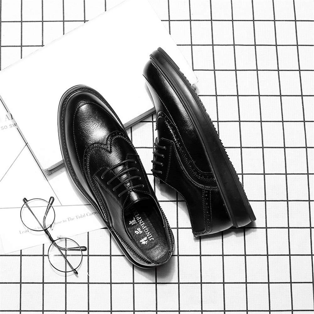 JIALUN-Schuhe Herren Einfache Mode Mode Mode Oxford Casual Klassische Schnitzereien Atmen Bequeme Laufsohle Brogue Schuhe (Lackleder Optional) (Farbe   Grau, Größe   44 EU)  543dc3