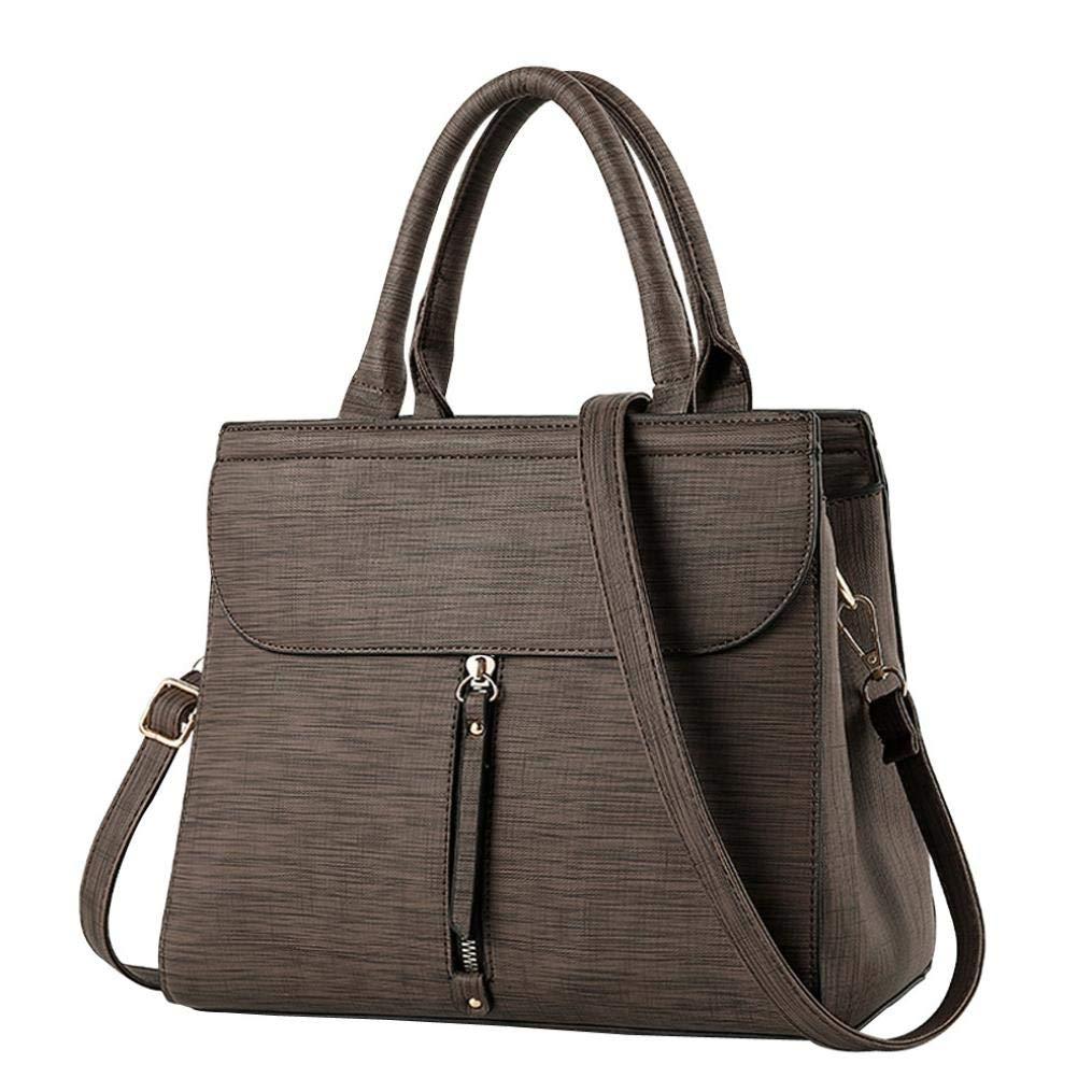 Bolayu Fashion Women Solid Cover Crossbody Bag Messenger Bag Shoulder Bag Handbag (Coffee)
