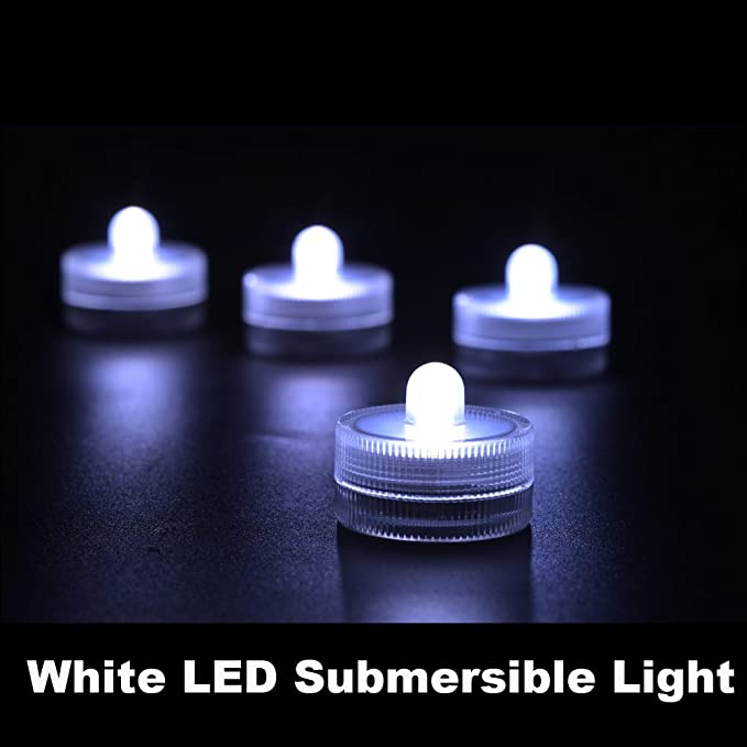 Amazon.com: KITOSUN Submersible LED Lights 3cm cr2032 Battery Operated Waterproof LED Candle Tea Light for Wedding Party Events Centerpiece Vases Floral ...