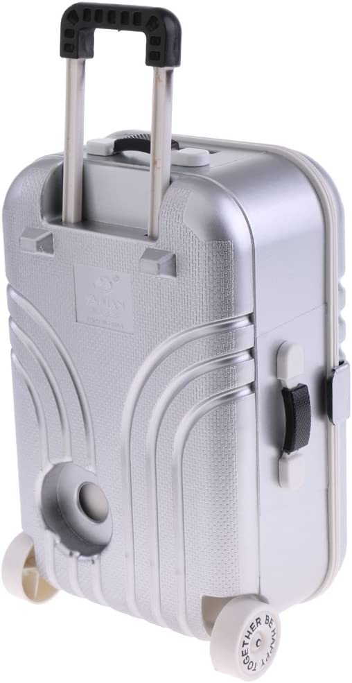 Antique 1//12 1//6 Scale Dollhouse Travel Suitcase Luggage for BJD Decoration